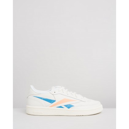 Club C 85 - Women's Chalk, Cyan & Sunglo by Reebok