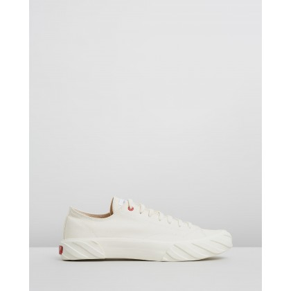 Coated Canvas Sneakers Soft White by Age