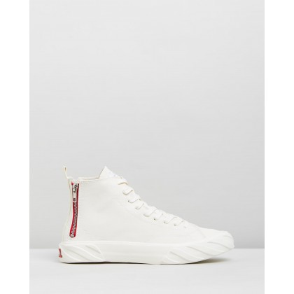 Coated Canvas Sneakers White by Age