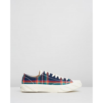 Coated Canvas Sneakers Blue Check by Age