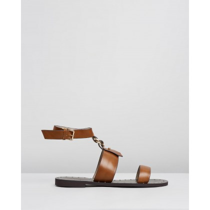 Colette Sandals Tan by Walnut Melbourne