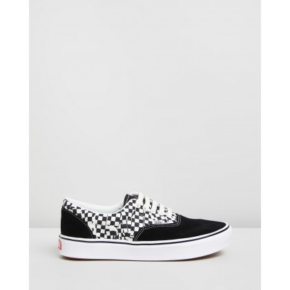 ComfyCush Era - Unisex Tear Check, Black & True White by Vans
