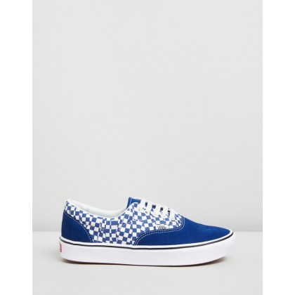 ComfyCush Era - Unisex Tear Check True Blue & True White by Vans