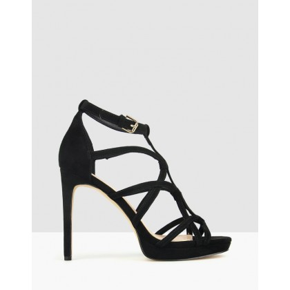 Conspire Stiletto Dress Sandals Black by Betts