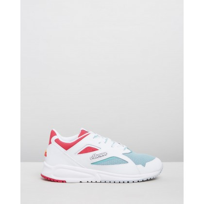 Contest - Women's White, Turquoise & Pink by Ellesse