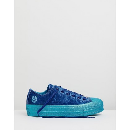 CONVERSE x MILEY Chuck Taylor All Star Lift Blue Sparkle by Converse