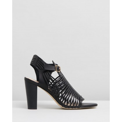 Cordella Heels Black Smooth by Spurr