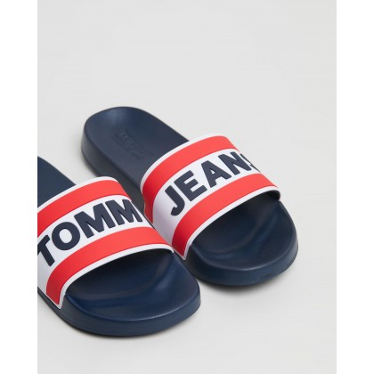 Core Pool Slides - Men's Black Iris by Tommy Jeans