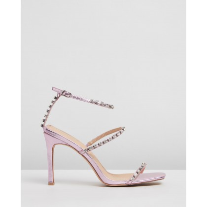 Corinne Heels Pink Metallic by Spurr