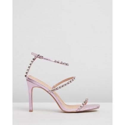 Corinne Heels Pink Metallic by Spurr