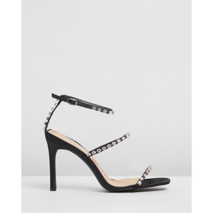 Corinne Heels Black Satin by Spurr