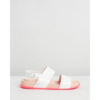 Cosmic Sandals White Gloss by Melissa