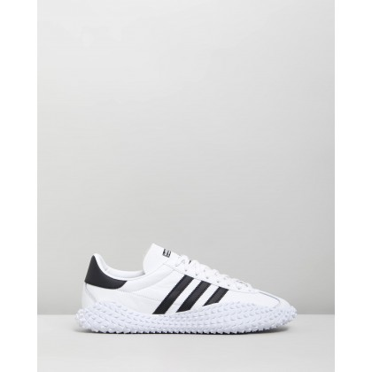 Country x Kamanda - Unisex Footwear White & Core Black by Adidas Originals