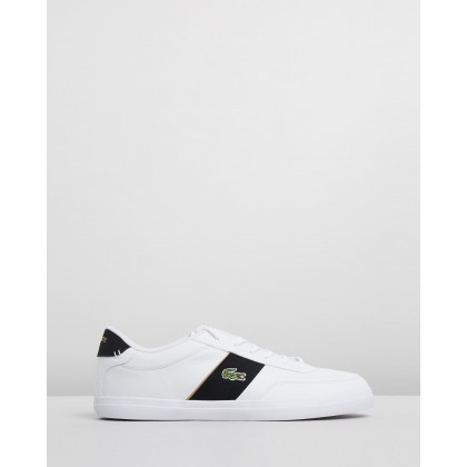 Court Master - Men's White & Black by Lacoste