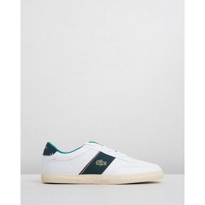 Court Master - Men's White & Dark Green by Lacoste