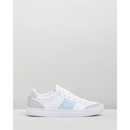 Courtline 319 1 Sneakers - Women's White & Light Blue by Lacoste