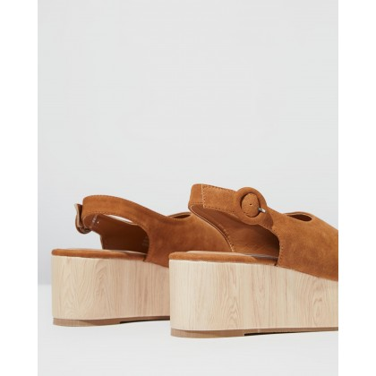Courtney Faux Wood Wedges Cinnamon by Rubi