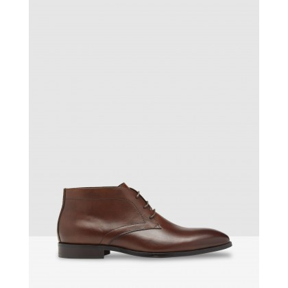 Craig Leather Boots Cognac by Oxford