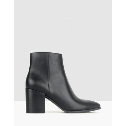 Crash Block Heel Ankle Boots Black by Betts