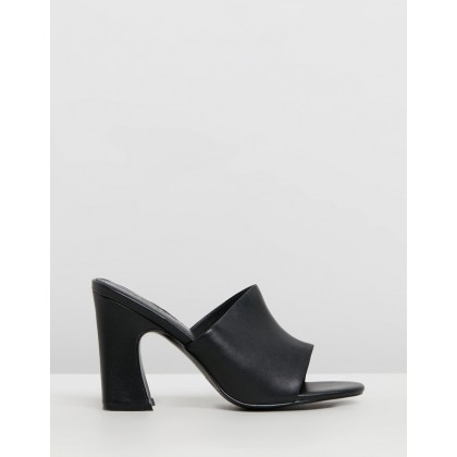 Crescent Leather Heels Black by Jaggar The Label