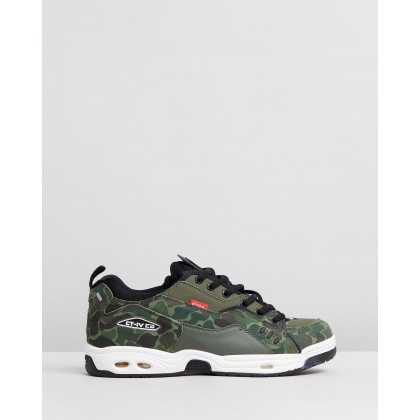CT-IV Classic - Men's Green Camo & White by Globe