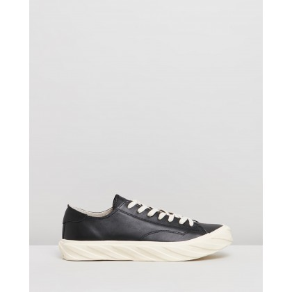 Cut Sneakers Black Leather by Age