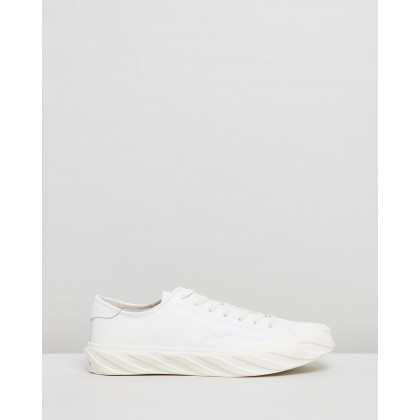 Cut Sneakers White Leather by Age