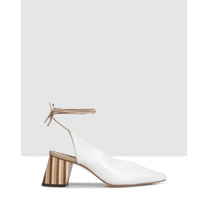 Cynthia Slingbacks White by Beau Coops