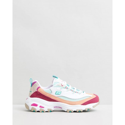 D'Lites - Second Chance White & Multi by Skechers