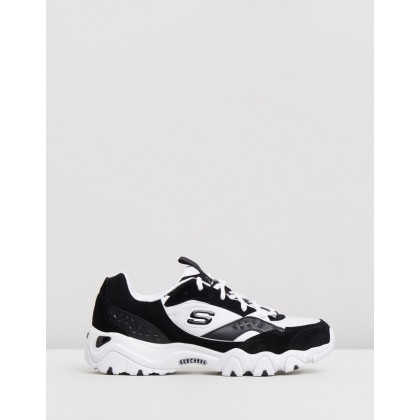 D'Lites - Women's Black & White by Skechers