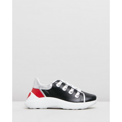 D-Ring Chunky Sole Sneakers Black by Love Moschino
