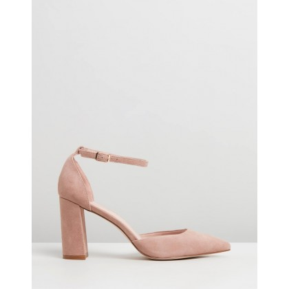 Dahlia Leather Pumps Dusty Pink Suede by Atmos&Here