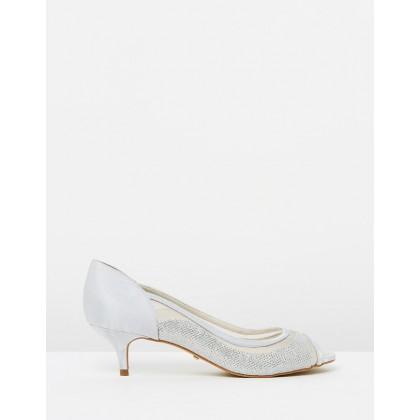 Daisy Heels Glitter Silver by Nina Armando