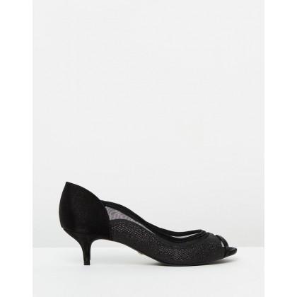 Daisy Heels Glitter Black by Nina Armando