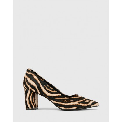 Dalena Pointed Toe Block Heels Prints by Wittner