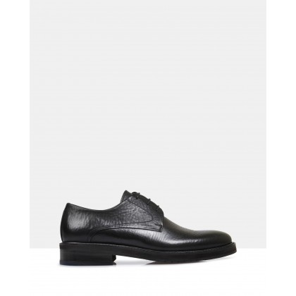 Dalinger Leather Derby Shoes Black by Brando