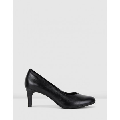 Dancer Nolin Heels Black Leather by Clarks