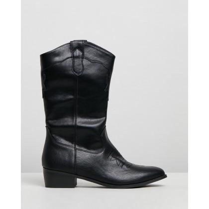 Danita Boots Black Smooth by Dazie