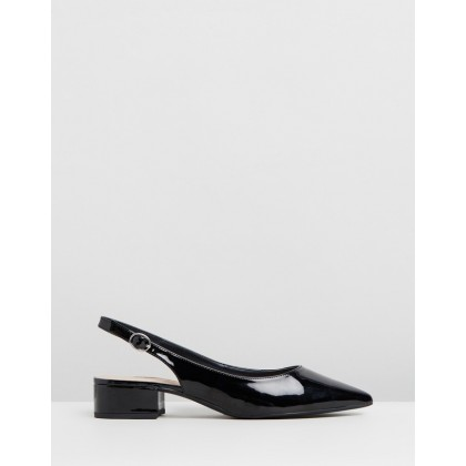 Daphne Block Heels Black Patent by Dorothy Perkins