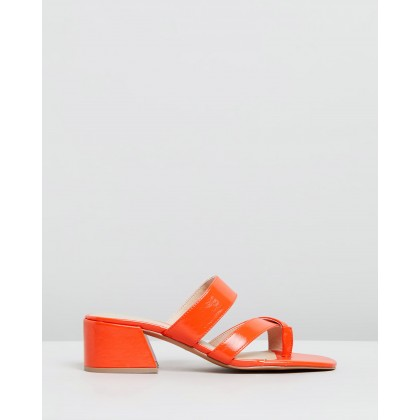 Darcy Toe Loop Sandals Red by Topshop