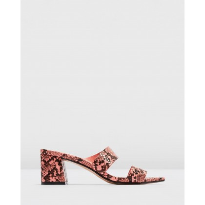Darla Strap Mules Pink by Topshop