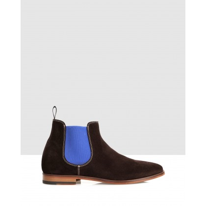 Dave Boots Choco-Royal Blue by Brando