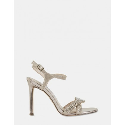 Davia Taupe Reflective Suede by Nina