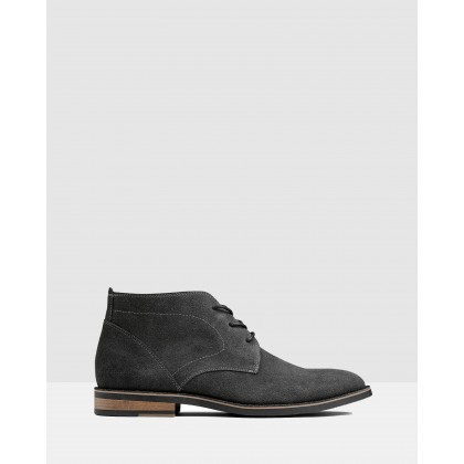 Delaney Desert Boots Charcoal by Aq By Aquila