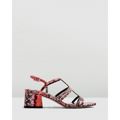 Delia T-Bar Sandals Pink by Topshop