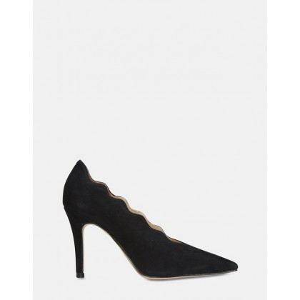 Della BLACK SUEDE by Jane Debster