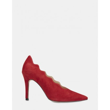 Della RED SUEDE by Jane Debster
