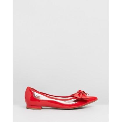 Demi Flats Red by Vizzano