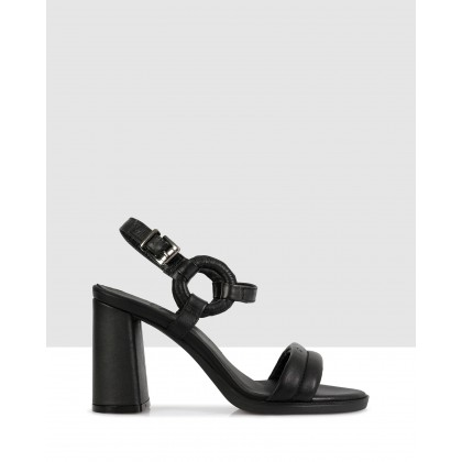 Denise Heeled Sandals Black by S By Sempre Di