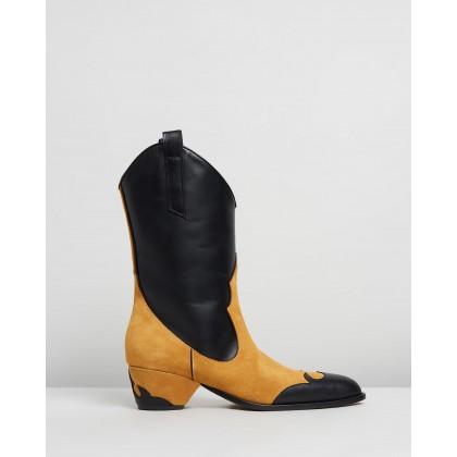 Deniz Boots Terra & Black by Manu Atelier